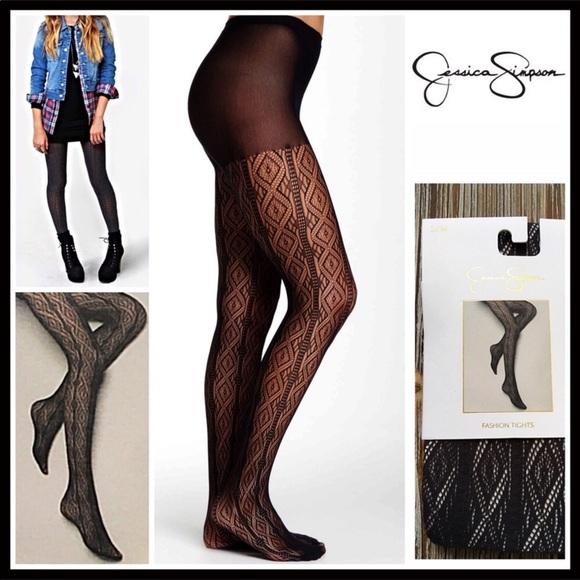 aa049073e9e2c Jessica Simpson Accessories | Grey Lace Tights | Poshmark
